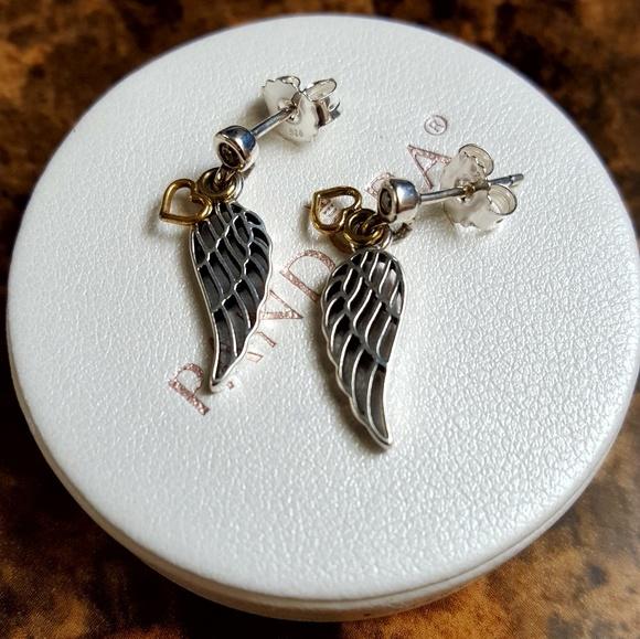 f411f0345 Pandora Jewelry | Love Guidance Angel Wings Earrings | Poshmark